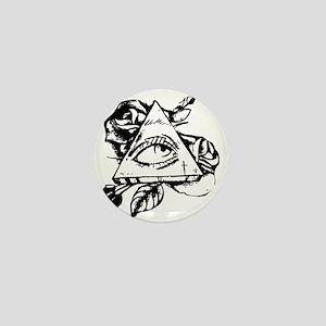 triangle all seeing eye Mini Button
