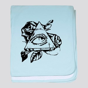 triangle all seeing eye baby blanket