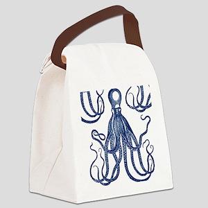 Antique Octopus Canvas Lunch Bag