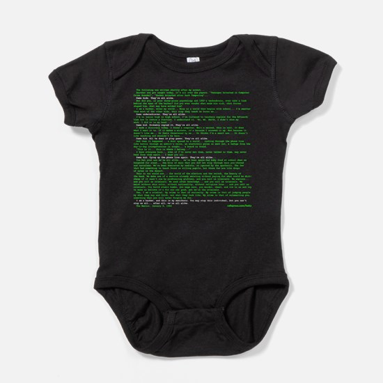 Hackers Manifesto Black Shirt Baby Bodysuit