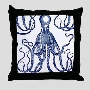 Antique Octopus Throw Pillow