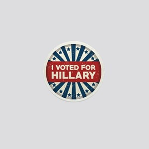I Voted For Hillary Mini Button