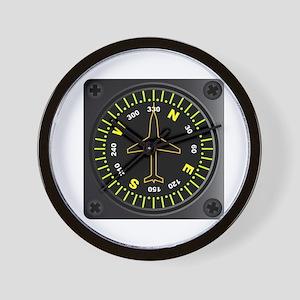 Aircraft Compass Wall Clock