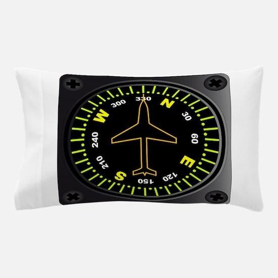 Aircraft Compass Pillow Case