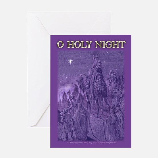 O Holy Night Christmas Greeting Card