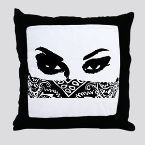 Bandana Girl Throw Pillow