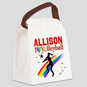 CUSTOM VOLLEYBALL Canvas Lunch Bag