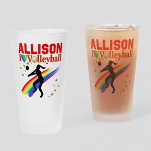 CUSTOM VOLLEYBALL Drinking Glass