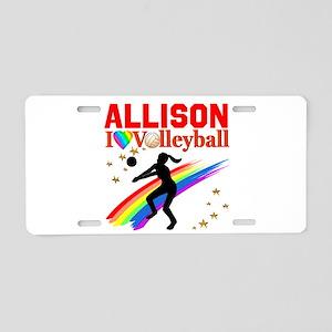 CUSTOM VOLLEYBALL Aluminum License Plate