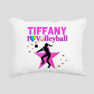 CUSTOM VOLLEYBALL Rectangular Canvas Pillow