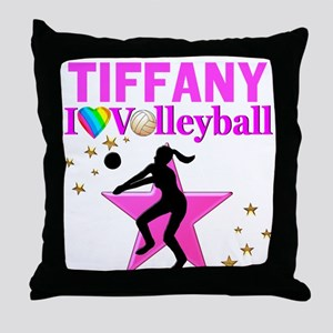 CUSTOM VOLLEYBALL Throw Pillow