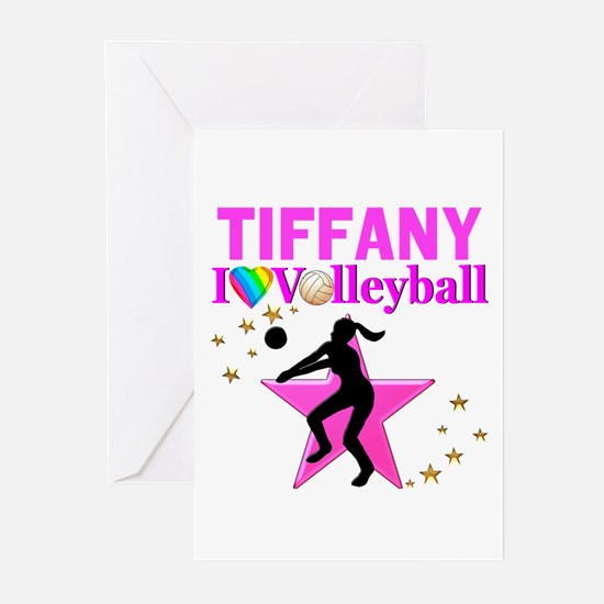 CUSTOM VOLLEYBALL Greeting Cards (Pk of 10)
