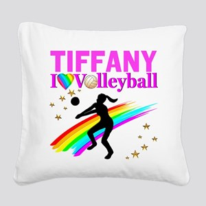 CUSTOM VOLLEYBALL Square Canvas Pillow
