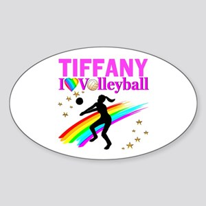 CUSTOM VOLLEYBALL Sticker (Oval)
