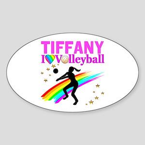 CUSTOM VOLLEYBALL Sticker (Oval)