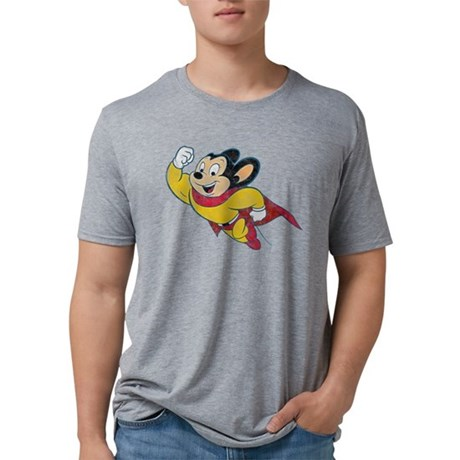 Vintage Mighty Mouse Mens Tri-blend T-Shirt