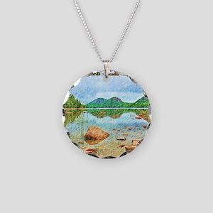 Jordan Pond - Acadia Nationa Necklace Circle Charm