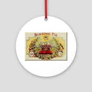 Mason's Binding Tie Round Ornament