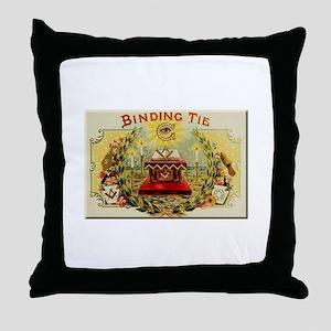 Mason's Binding Tie Throw Pillow