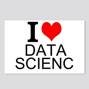 I Love Data Science Postcards (Package of 8)