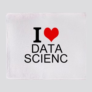 I Love Data Science Throw Blanket