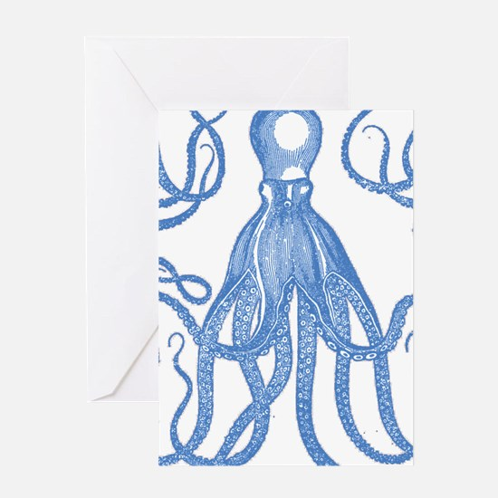 Antique Octopus Greeting Cards