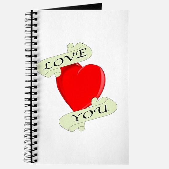 Love You Heart Journal