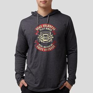 Real Grandpa Drive Hot Rods T Shirt Long Sleeve T-