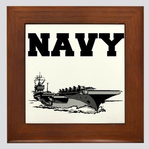 Navy Framed Tile