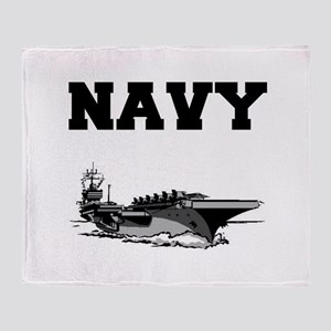 Navy Throw Blanket