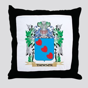 Thorson Coat of Arms - Family Crest Throw Pillow