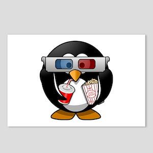 3D Cinema penguin Postcards (Package of 8)