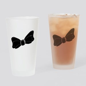 Black Satin Bow Drinking Glass