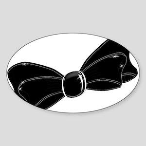 Black Satin Bow Sticker