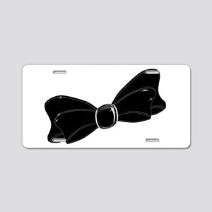 Black Satin Bow Aluminum License Plate