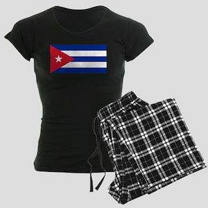 Cuba Flag Women's Dark Pajamas