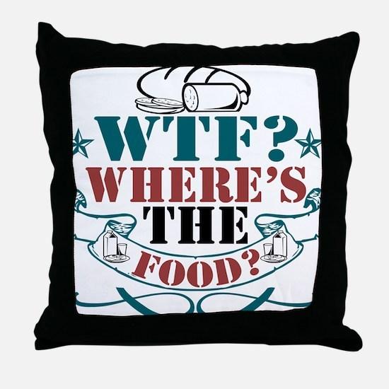 Cute Wtf Throw Pillow