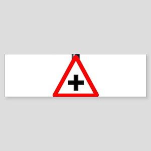 Cross Roads Traffic Sign Bumper Sticker