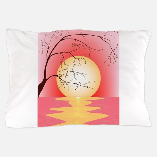 Sunset and Tree Pillow Case