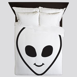 Happy Alien Face Queen Duvet