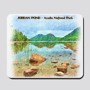 Jordan Pond - Acadia National Park Mousepad