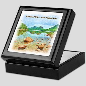 Jordan Pond - Acadia National Park Keepsake Box