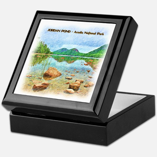 Jordan Pond - Acadia National Park Keepsake Box