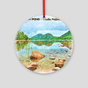 Jordan Pond - Acadia National Park Round Ornament