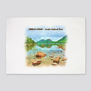 Jordan Pond - Acadia National Park 5'x7'Area Rug