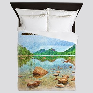 Jordan Pond - Acadia National Park Queen Duvet