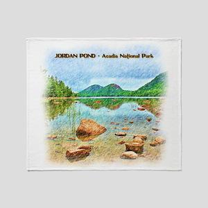 Jordan Pond - Acadia National Park Throw Blanket
