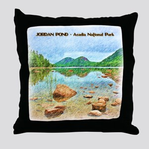 Jordan Pond - Acadia National Park Throw Pillow