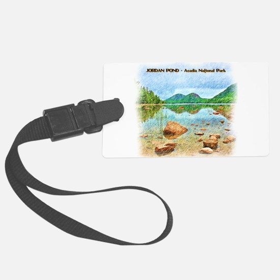 Jordan Pond - Acadia National Pa Luggage Tag