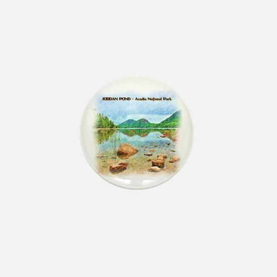 Jordan Pond - Acadia National Park Mini Button